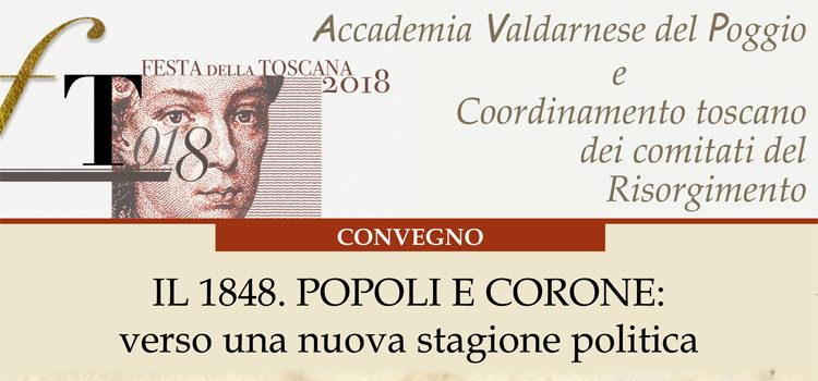 """14 Dicembre, Montevarchi – Convegno """"IL 1848. POPOLI E CORONE: verso una nuova stagione politica"""""""