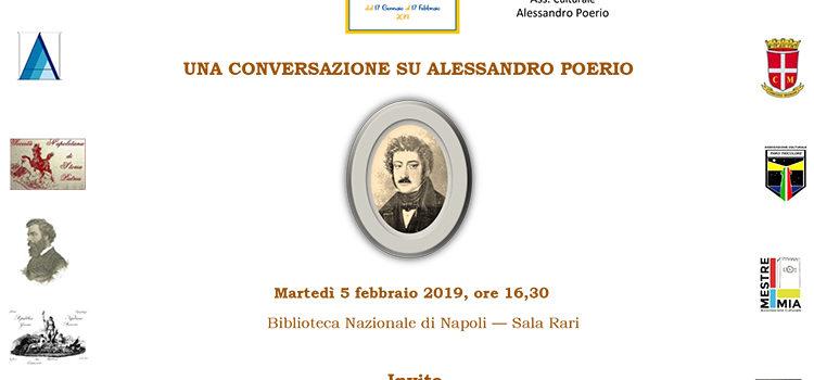 5 febbraio, Napoli – Una conversazione su Alessandro Poerio