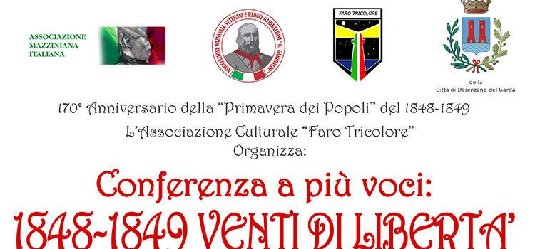 """16 Febbraio, Desenzano del Garda – Conferenza a più voci """"1848-1849. Venti di Libertà"""""""