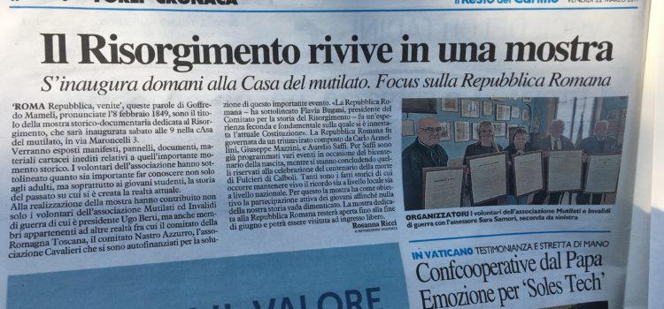 Rassegna stampa e foto mostra a Forlì