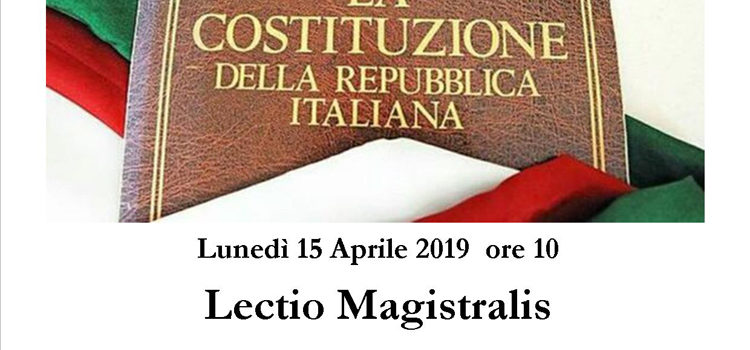 15 Aprile, Figline Valdarno – Lectio Magistralis