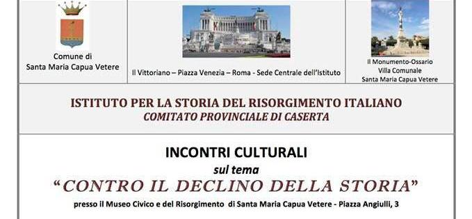 """Caserta – Incontri culturali sul tema """"Contro il declino della storia"""""""