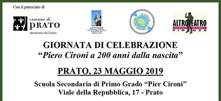 23 Maggio, Prato – Celebrazioni 200 anni Piero Cironi