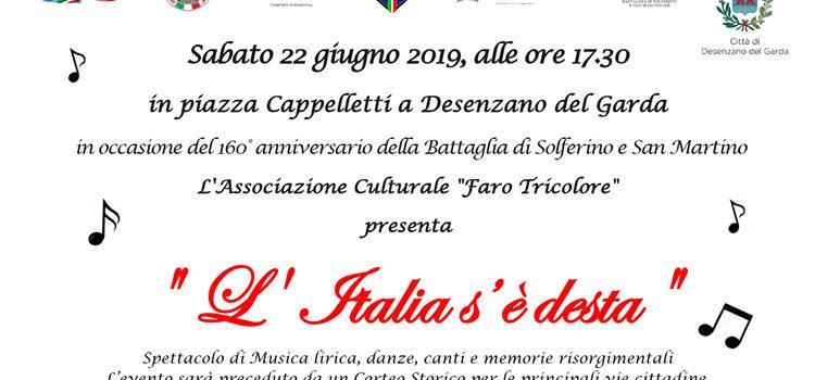 """22 Giugno, Desenzano del Garda – Spettacolo di Rievocazione storica: """"L'Italia s'è desta"""""""