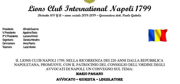13 Giugno, Napoli – Convegno su Mario Pagano