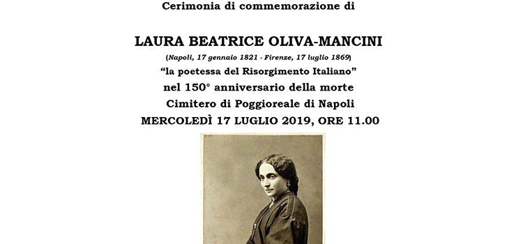 17 Luglio, Napoli – Cerimonia di commemorazione di Laura Beatrice Oliva-Mancini