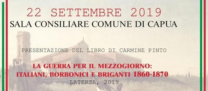 22 Settembre, Capua – Presentazione libro di Carmine Pinto