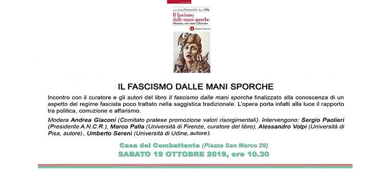 """19 ottobre, Prato – Presentazione libro """"Il fascismo dalle mani sporche"""""""