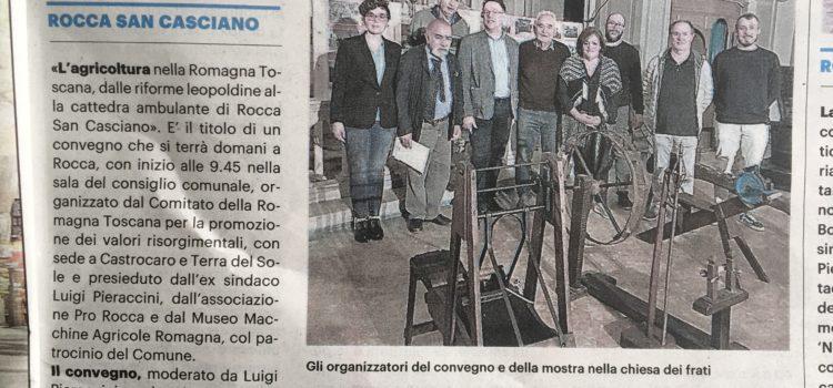 Rassegna stampa convegno Rocca San Casciano