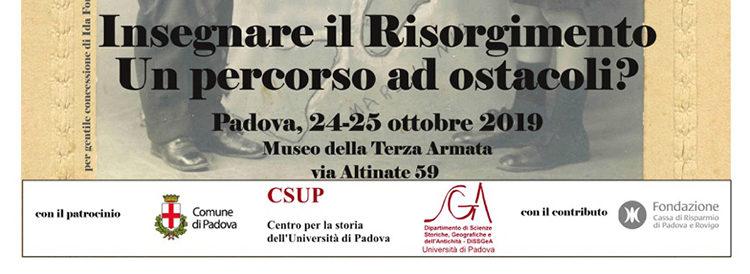 24-25 ottobre, Padova – Insegnare il Risorgimento. Un percorso ad ostacoli?