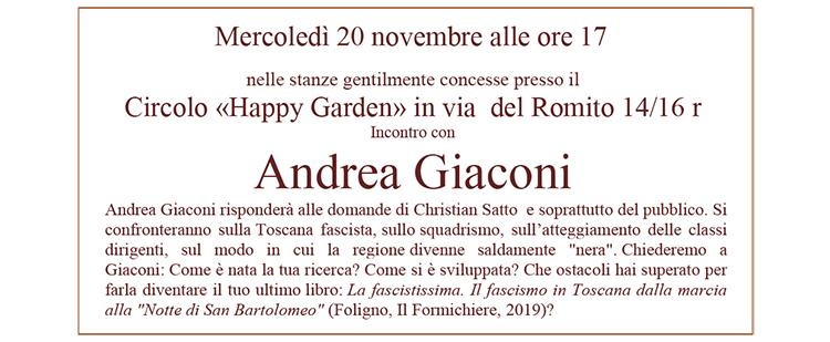 """20 novembre, Firenze – """"Domande alla Storia"""""""