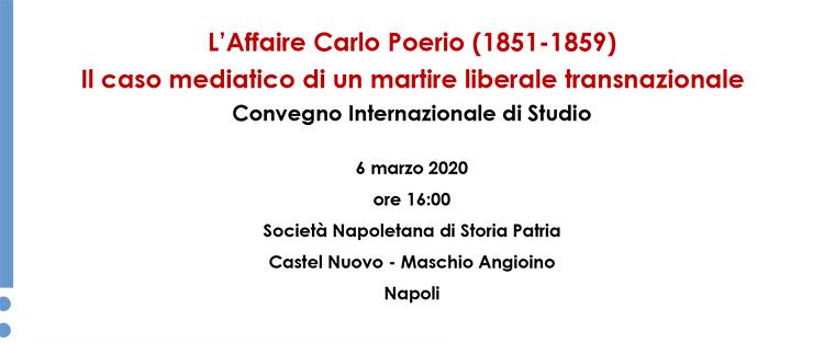 6 marzo, Napoli – L'Affaire Carlo Poerio (1851-1859)