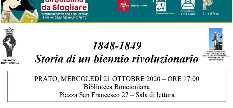 21 ottobre, Prato – 1848-1849 Storia di un biennio rivoluzionario, presentazione due volumi