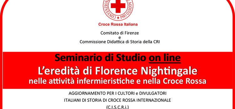 Seminario di Studio on line – L'eredità di Florence Nightingale nelle attività infermieristiche e nella Croce Rossa
