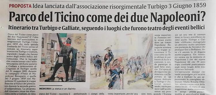Proposta itinerario Napoleonico nel parco del Ticino