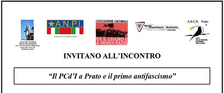 """12 giugno, Prato – Incontro """"Il PCd'I a Prato e il primo antifascismo"""""""
