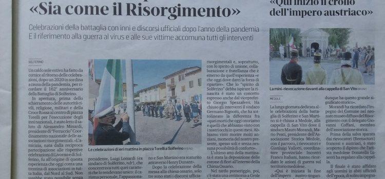 Celebrazioni 162° anniversario della Battaglia di Solferino e San Martino