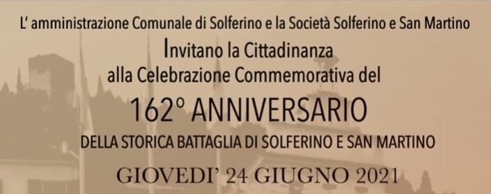 24 giugno, Solferino – 162° Anniversario della storica battaglia di Solferino e San Martino