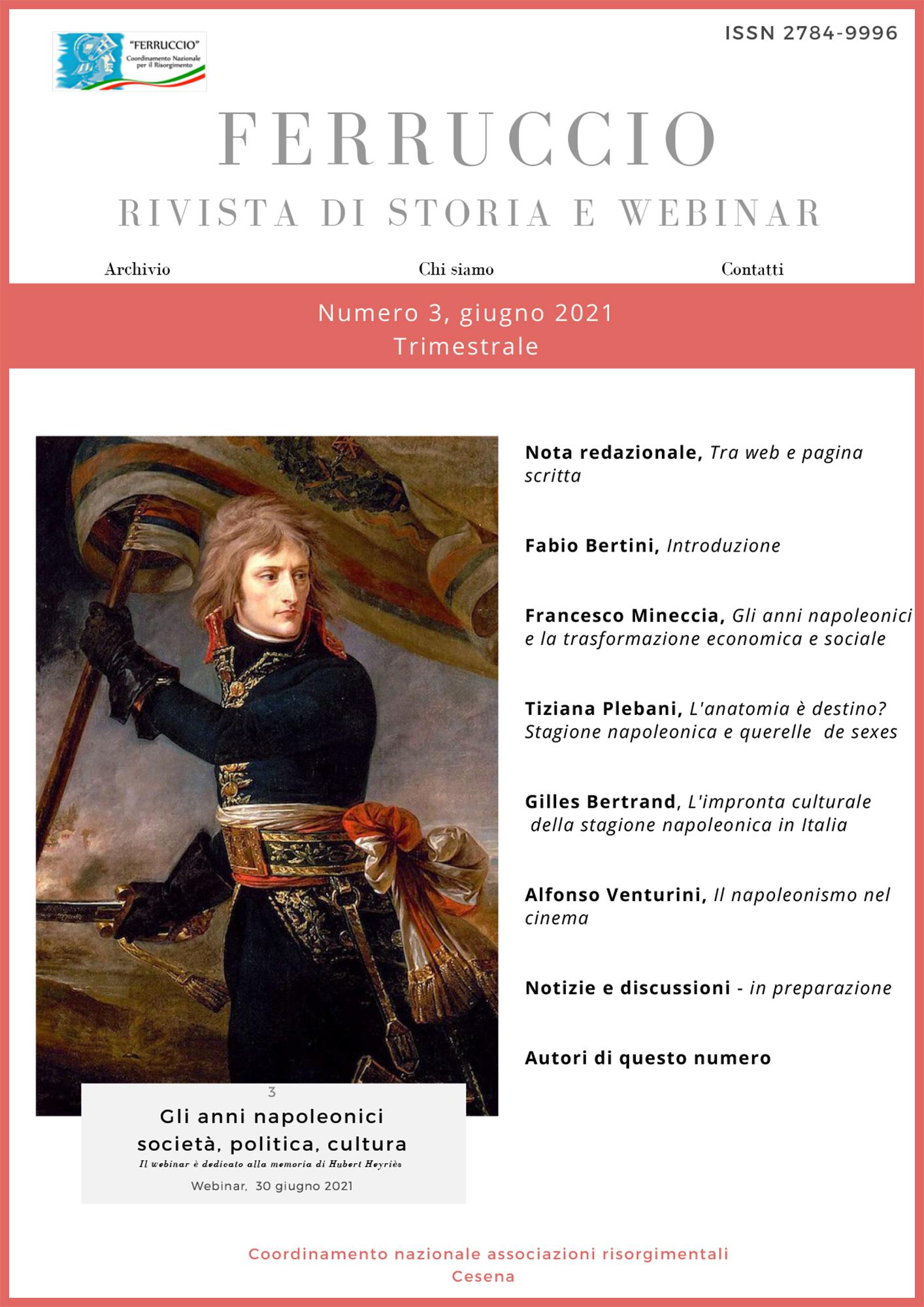 Ferruccio Rivista di Storia e Webinar