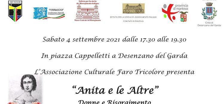 """4 settembre, Desenzano Del Garda – """"Anita e le Altre"""" Donne e Risorgimento"""