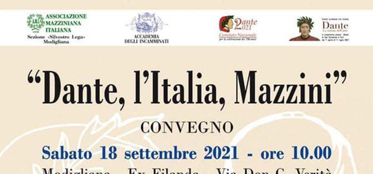 """18 settembre, Modigliana – Convegno """"Dante, l'Italia, Mazzini"""""""