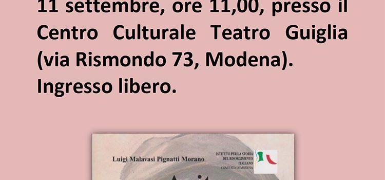 """11 settembre, Modena – Presentazione del libro """"Anita. La riscoperta di un'eroina"""""""