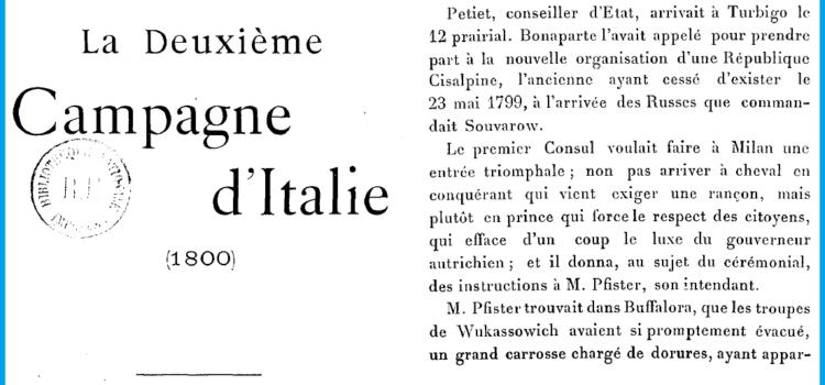 Itinerari Napoleonici nella Valle del Ticino e Rinascita Territoriale