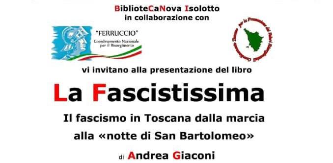 """16 Febbraio – Presentazione libro """"La Fascistissima"""