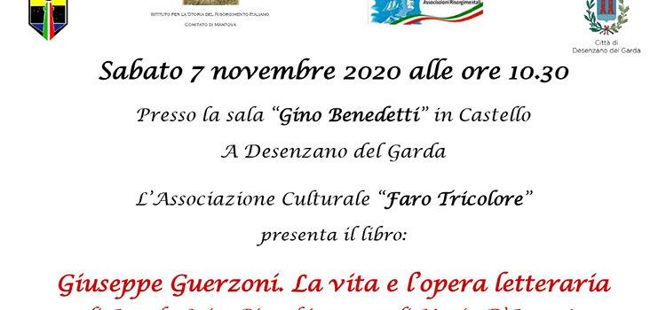 """7 novembre, Desenzano del Garda – RIMANDATA A DATA DA DESTINARSI Presentazione libro """"Giuseppe Guerzoni. La Vita e l'Opera letteraria"""