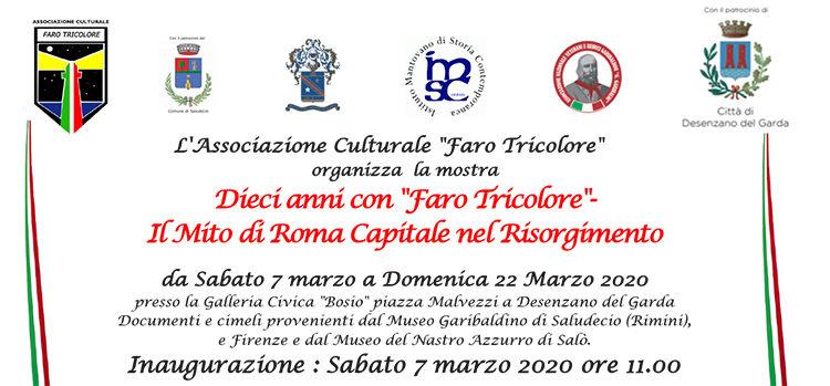"""7 marzo, Desenzano del Garda – Inaugurazione mostra 'Dieci anni con """"Faro Tricolore"""